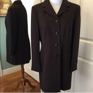 Brown Blazer Dress Coat Style by Petite Sophistic.